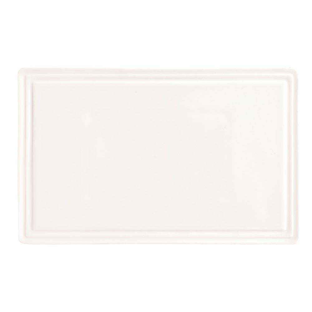 """Syracuse China 905356003 8-3/4"""" Royal Rideau Tray - Rectangular, Slenda, White"""