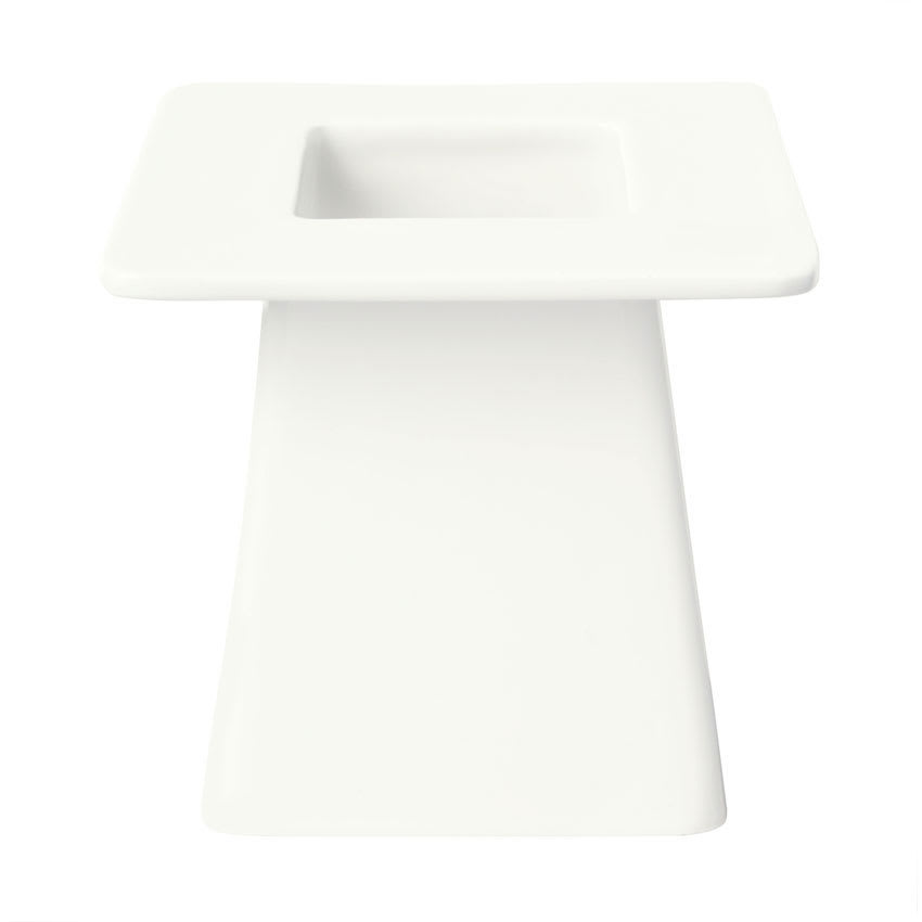 "Syracuse China 905356004 8"" Square Pedestal w/ Slenda Pattern & Shape, Royal Rideau Body"