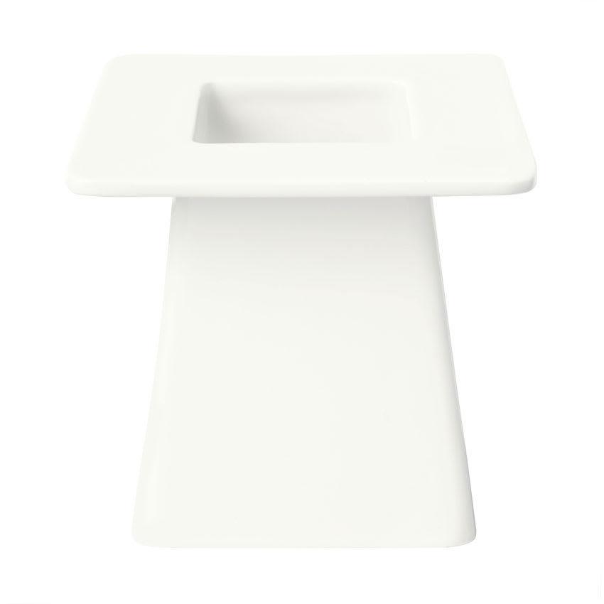 "Syracuse China 905356008 6"" Square Pedestal w/ Slenda Pattern & Shape, Royal Rideau Body"