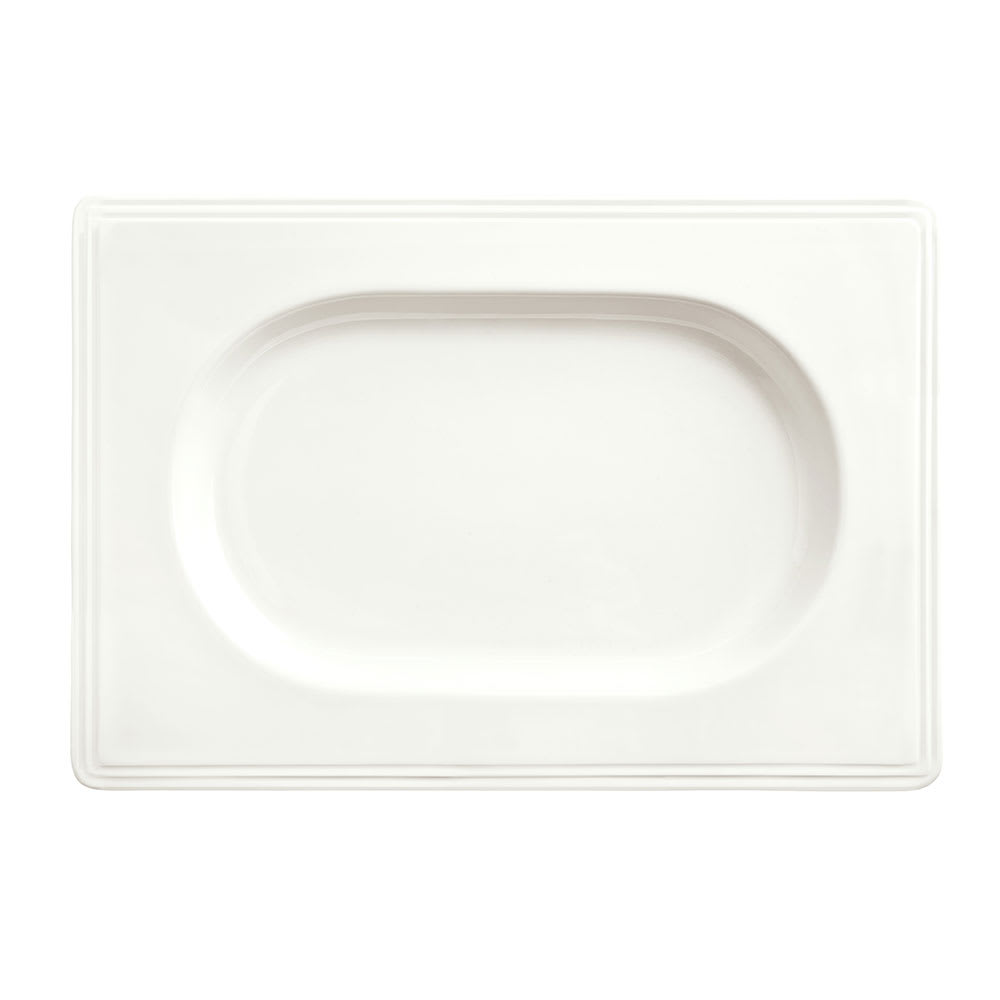 """Syracuse China 905356018 9"""" Royal Rideau Valla Tray - Rectangular, Glazed, White"""