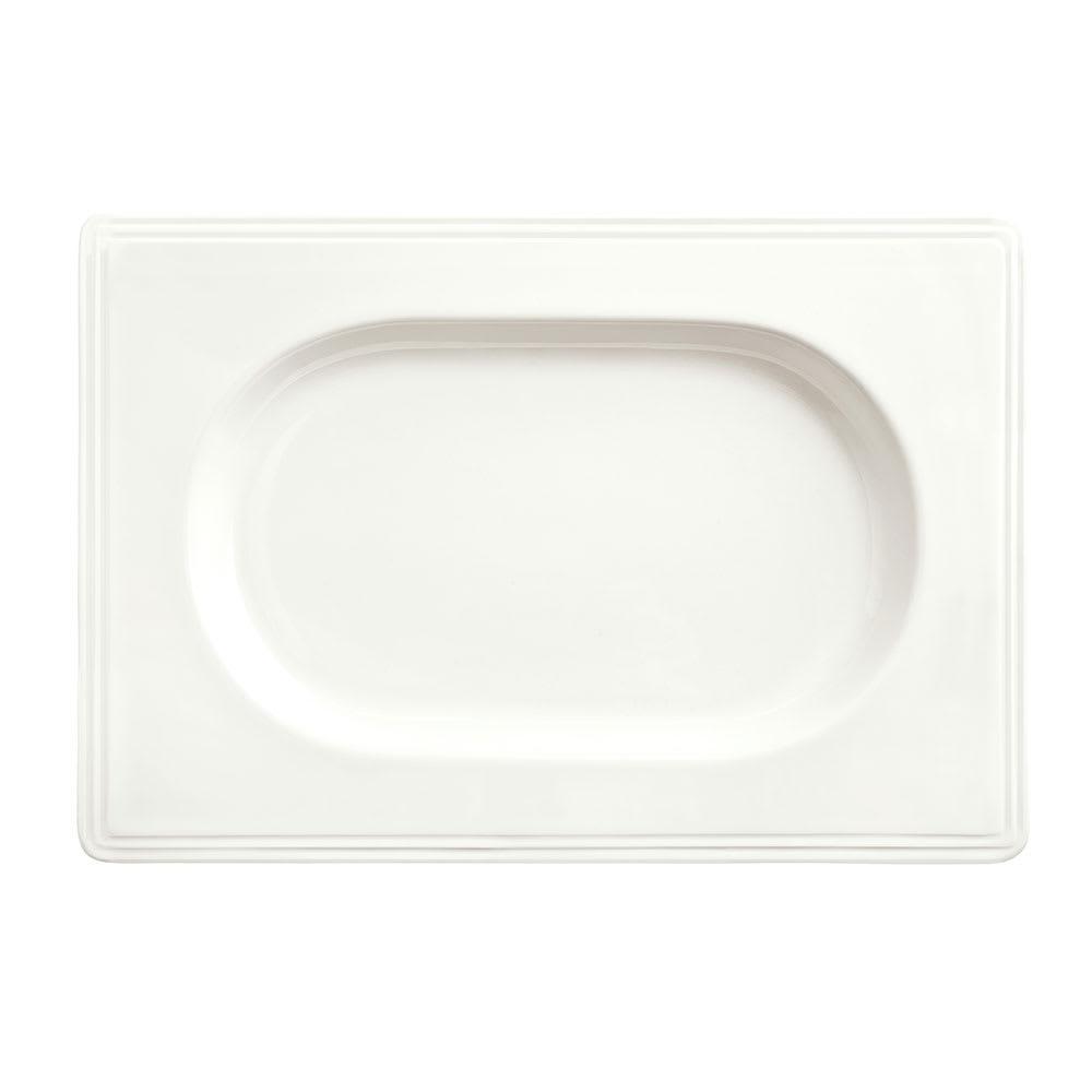 """Syracuse China 905356019 13"""" Royal Rideau Valla Tray - Rectangular, Glazed, White"""