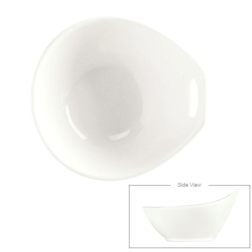 Syracuse China 024-905356020 4-oz Round Bowl w/ Handle Cutout, Slenda Practica, White