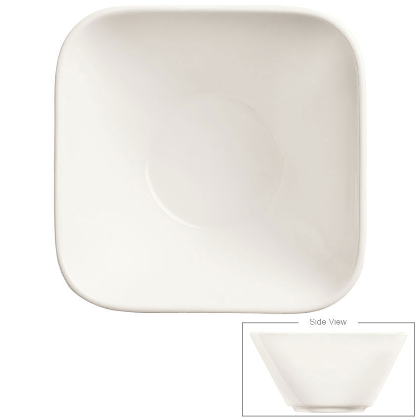 Syracuse China 905356111 10 oz Royal Rideau Bowl - Square, Slenda, White