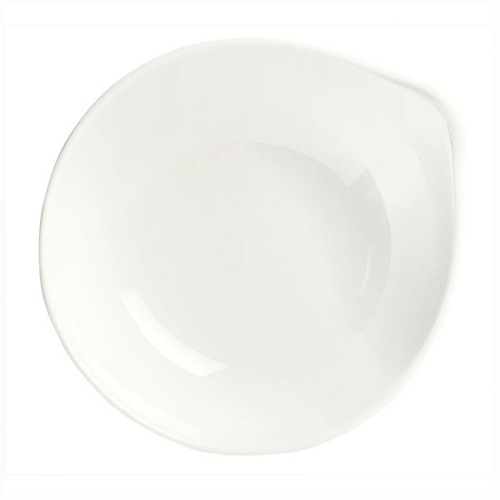 Syracuse China 905356112 4 1/2 oz Royal Rideau Pyramid Bowl - Round, Handle, White