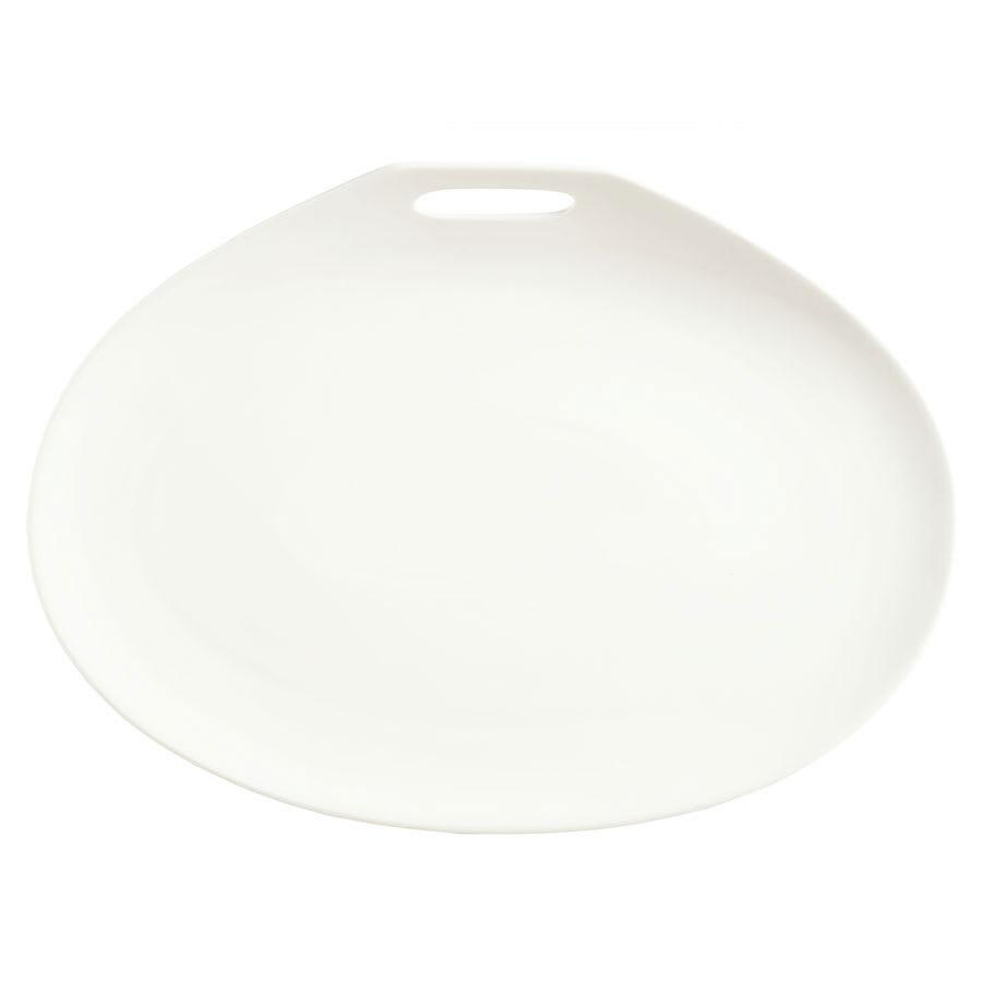 "Syracuse China 905356115 Plate w/ Handle Cutout, Slenda Practica, 10x7.25"", White"