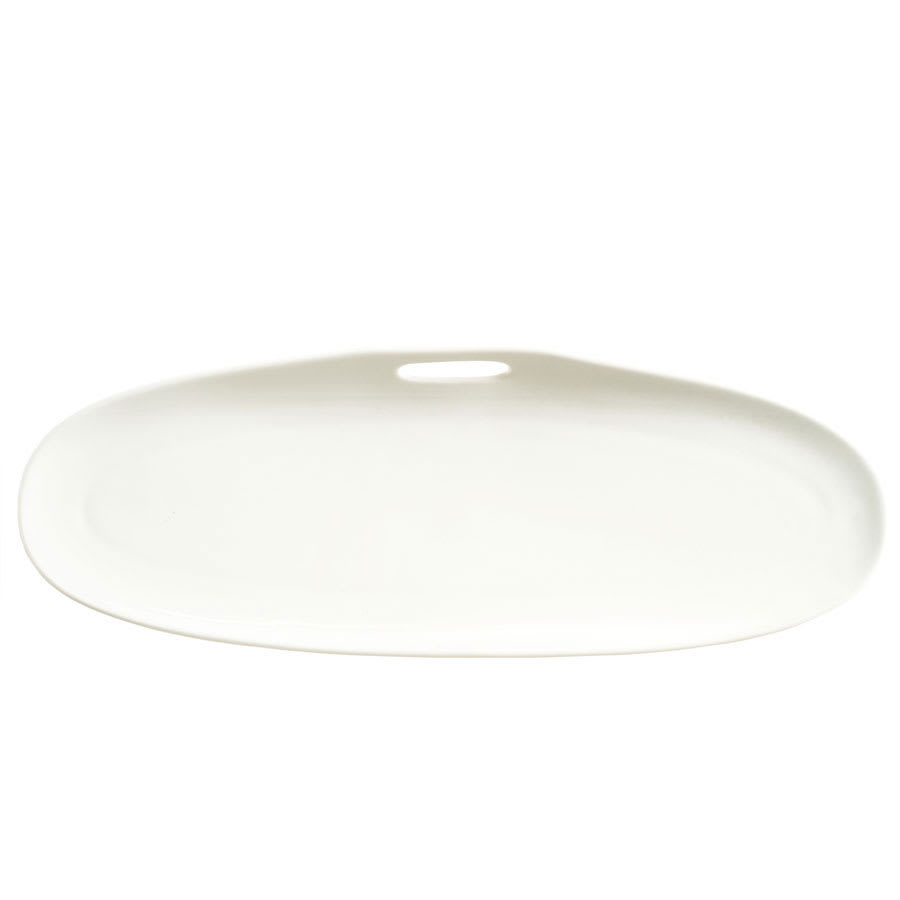 "Syracuse China 905356118 Rectangular Tray w/ Handle Cutout, Slenda Practica, 13.75x5"", White"