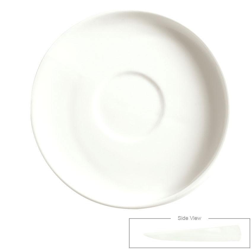 "Syracuse China 905356123 6"" Angular Saucer - Slenda Verve, White"