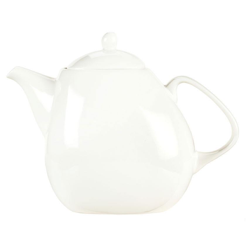 Syracuse China 905356126 23-oz Teapot w/ Lid, Slenda Verve, White