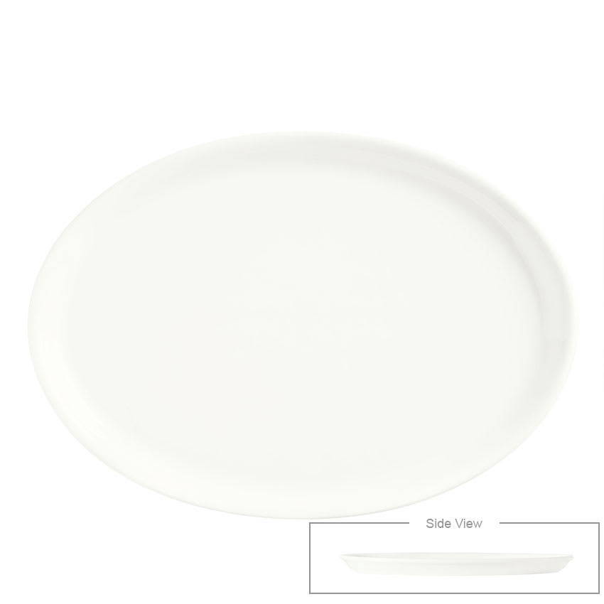 "Syracuse China 905356302 13.25"" Oval Tray w/ Slenda Pattern & Shape, Royal Rideau Body"