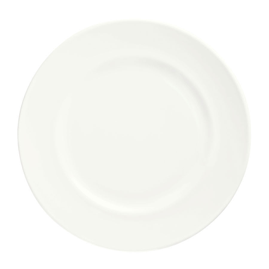 Syracuse China 905356307 Round Plate w/ Wide Rim, Slenda Pattern & Shape, Royal Rideau Body, 8.25""