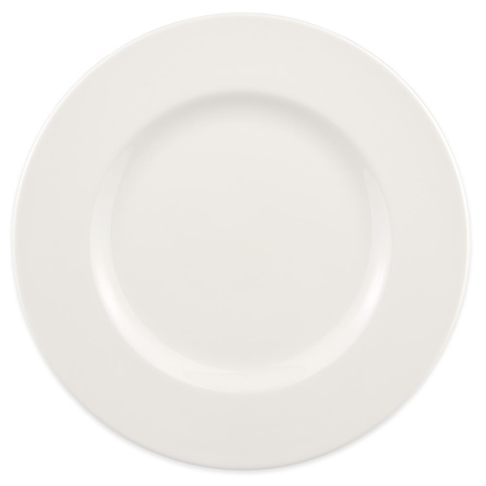 Syracuse China 905356308 Round Plate w/ Wide Rim, Slenda Pattern & Shape, Royal Rideau Body, 9""