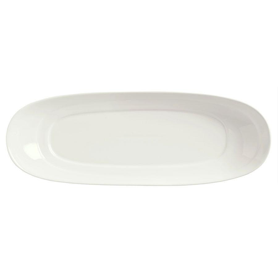 "Syracuse China 905356402 Slenda Oval Long Plate - 14x5-1/2"" Royal Rideau"