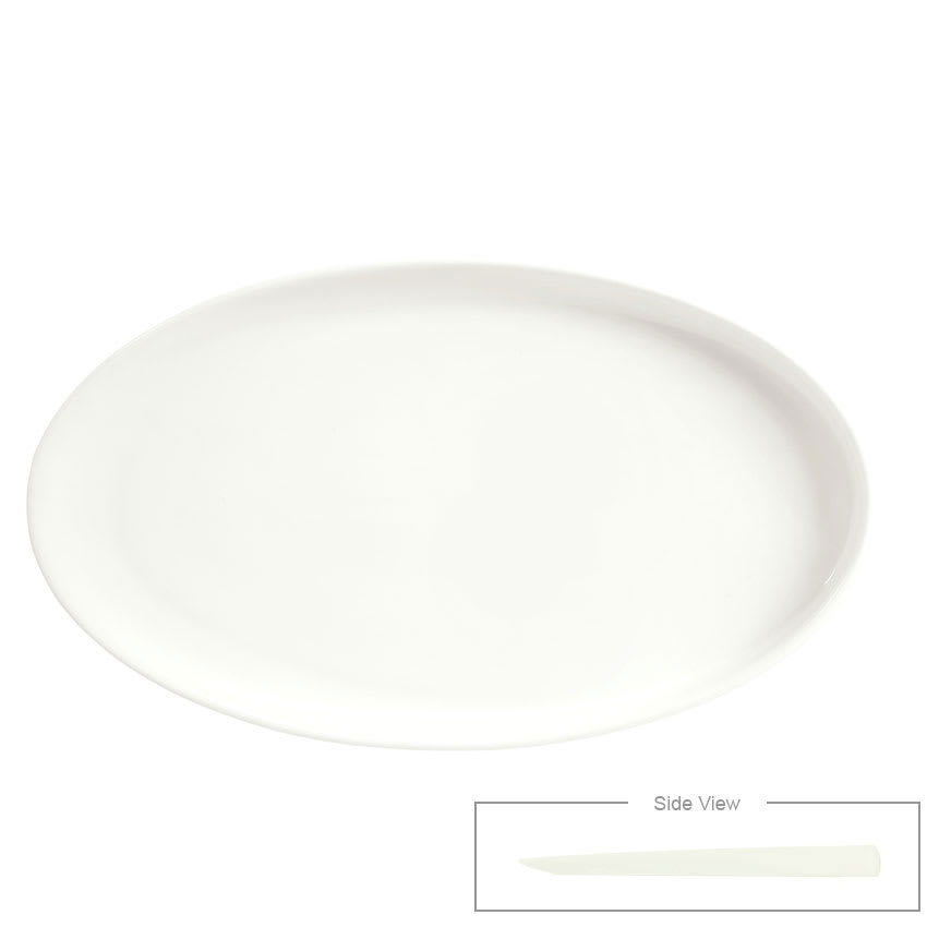 "Syracuse China 905356415 Oval Tray - Slenda Perpetua, 9x5.25"", White"