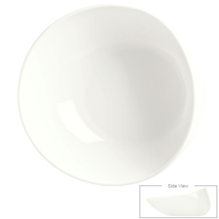 Syracuse China 905356416 47 oz Slenda Verve Round Bowl - Royal Rideau
