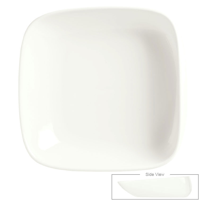 Syracuse China 905356419 31 oz Slenda Verve Square Bowl - Royal Rideau