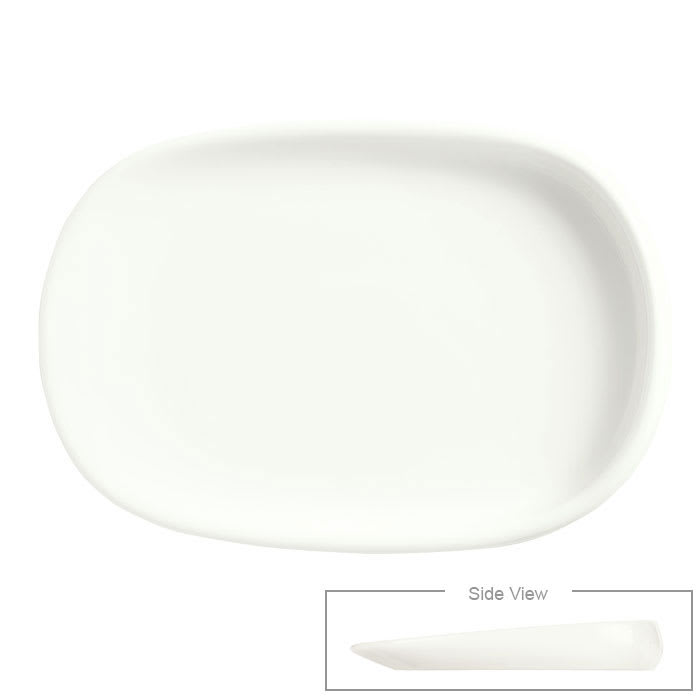 """Syracuse China 905356421 Rectangular Slenda Verve Dish - 4-3/8x3"""" Royal Rideau"""