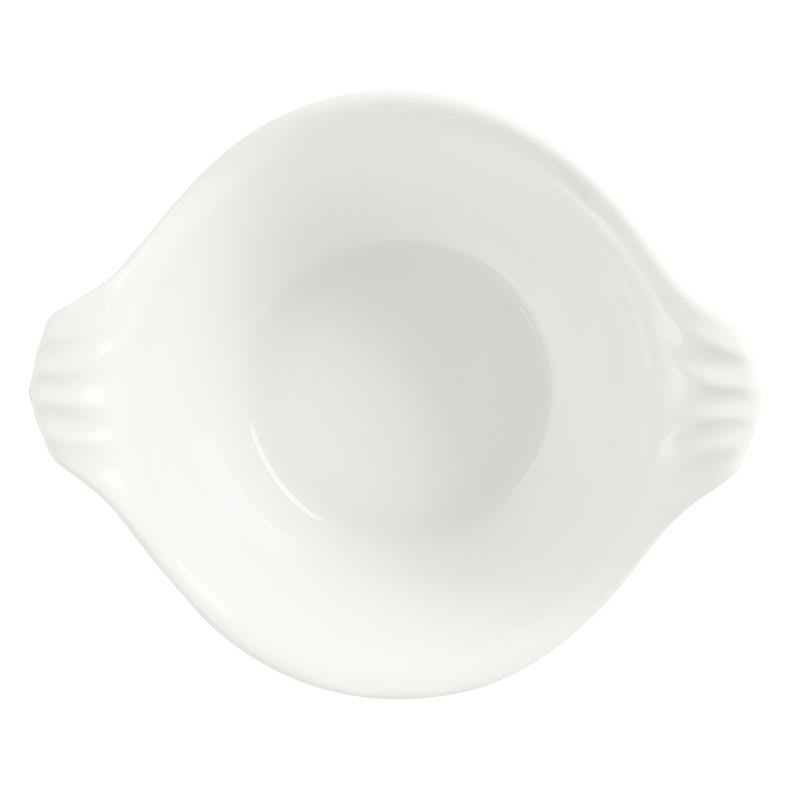 Syracuse China 905356427 7-oz Slenda Round Bowl with Fluted Handles - Royal Rideau