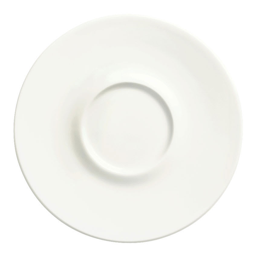 "Syracuse China 905356590 5-1/8"" Royal Rideau Saucer - Slenda, White"