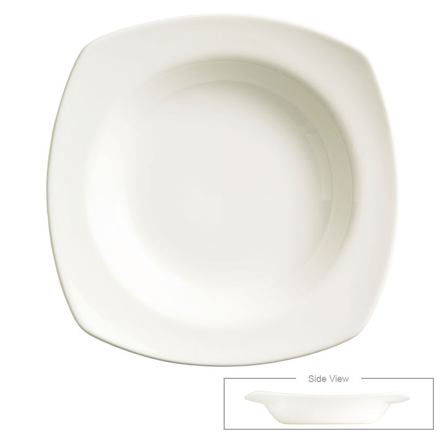 "Syracuse China 905356890 9"" Square Bowl w/ Slenda Pattern & Shape, Royal Rideau Body"