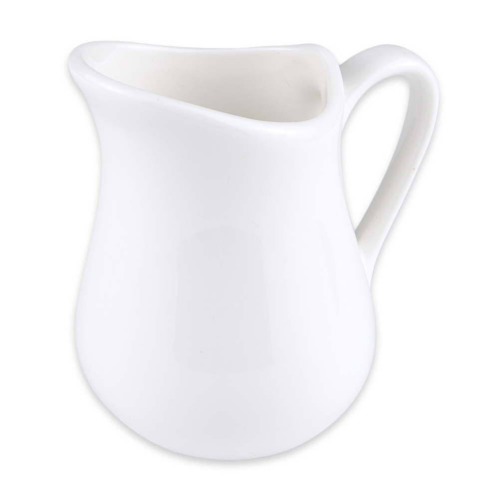 Syracuse China 905356907 3-oz Royal Rideau Creamer - Glazed, Loop Handle, White