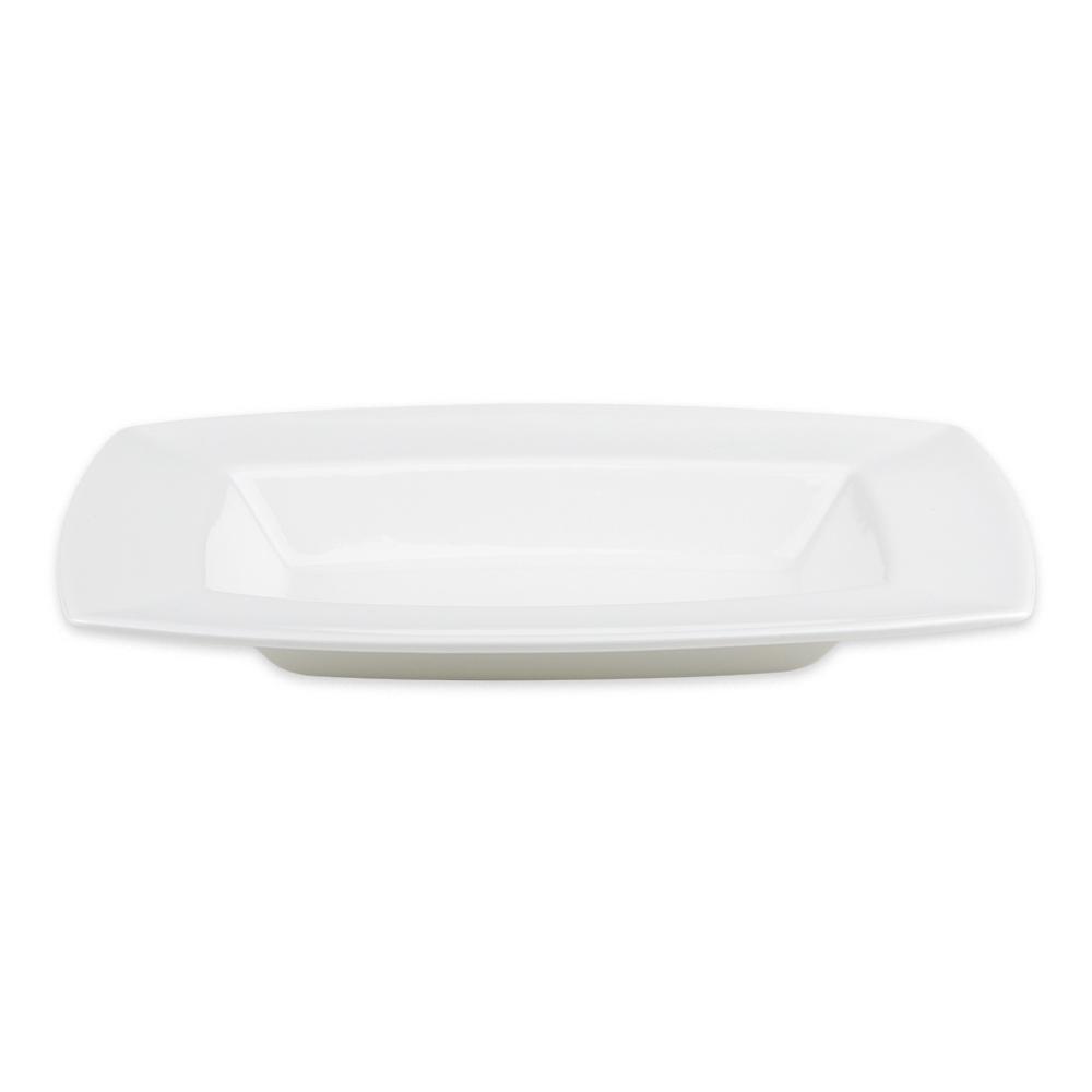 Syracuse China 905356950 9.5 oz Rectangular Bowl w/ Slenda Pattern & Shape, Royal Rideau Body
