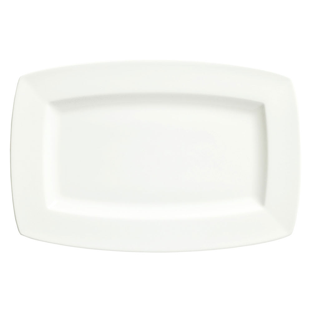 "Syracuse China 905356956 12"" Rectangular Plate w/ Slenda Pattern & Shape, Royal Rideau Body"