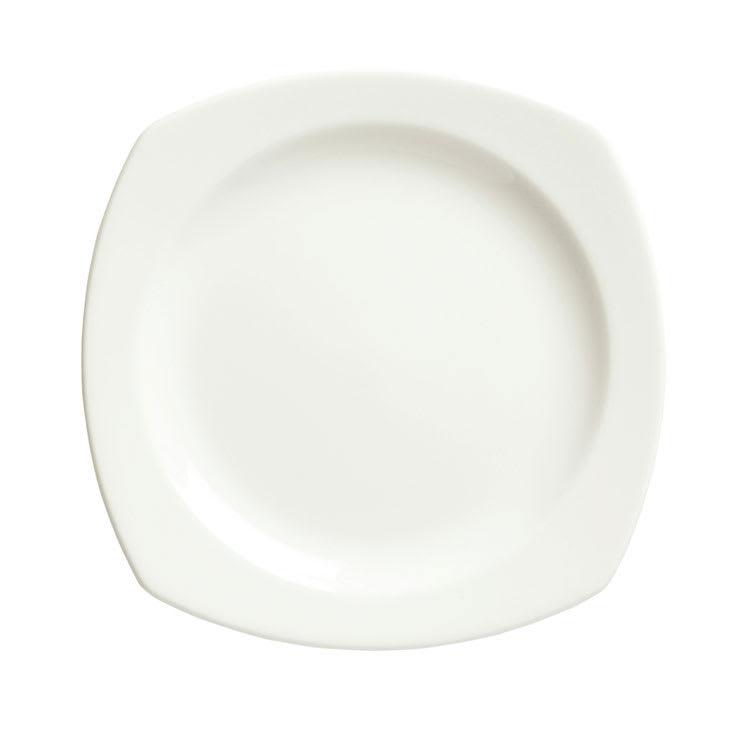 "Syracuse China 905356975 10.38"" Square Plate w/ Slenda Pattern & Shape, Royal Rideau Body"