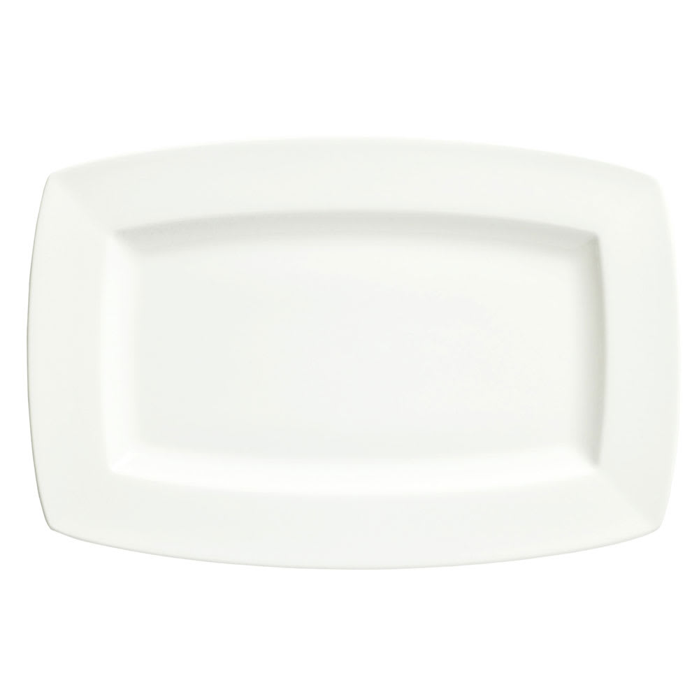 "Syracuse China 905356987 13.5"" Rectangular Plate w/ Slenda Pattern & Shape, Royal Rideau Body"