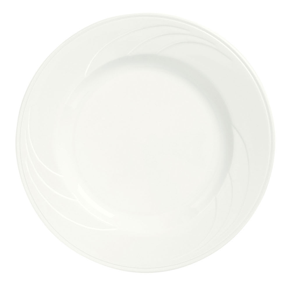 "Syracuse China 905437986 9.12"" Plate w/ Elan Pattern & Royal Rideau Body"