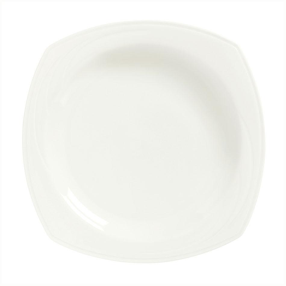 Syracuse China 905437996 28 oz Square All Purpose Bowl w/ Elan Pattern & Royal Rideau Body