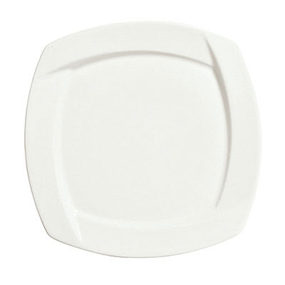 "Syracuse China 905482905 7.12"" Square Plate w/ Tangular Pattern & Shape, Thin, Royal Rideau Body"