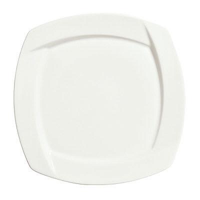 "Syracuse China 905482906 6.25"" Square Plate w/ Tangular Pattern & Shape, Thin, Royal Rideau Body"