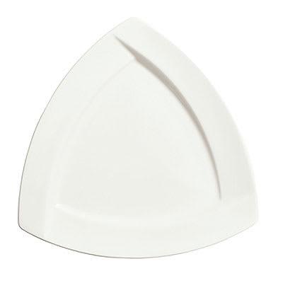 "Syracuse China 905482919 10.12"" Thin Plate w/ Tangular Pattern & Shape, Royal Rideau Body, White"
