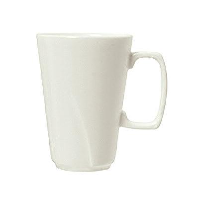 Syracuse China 905482924 10.5-oz Tall Mug w/ Tangular Pattern & Shape, Royal Rideau Body, White