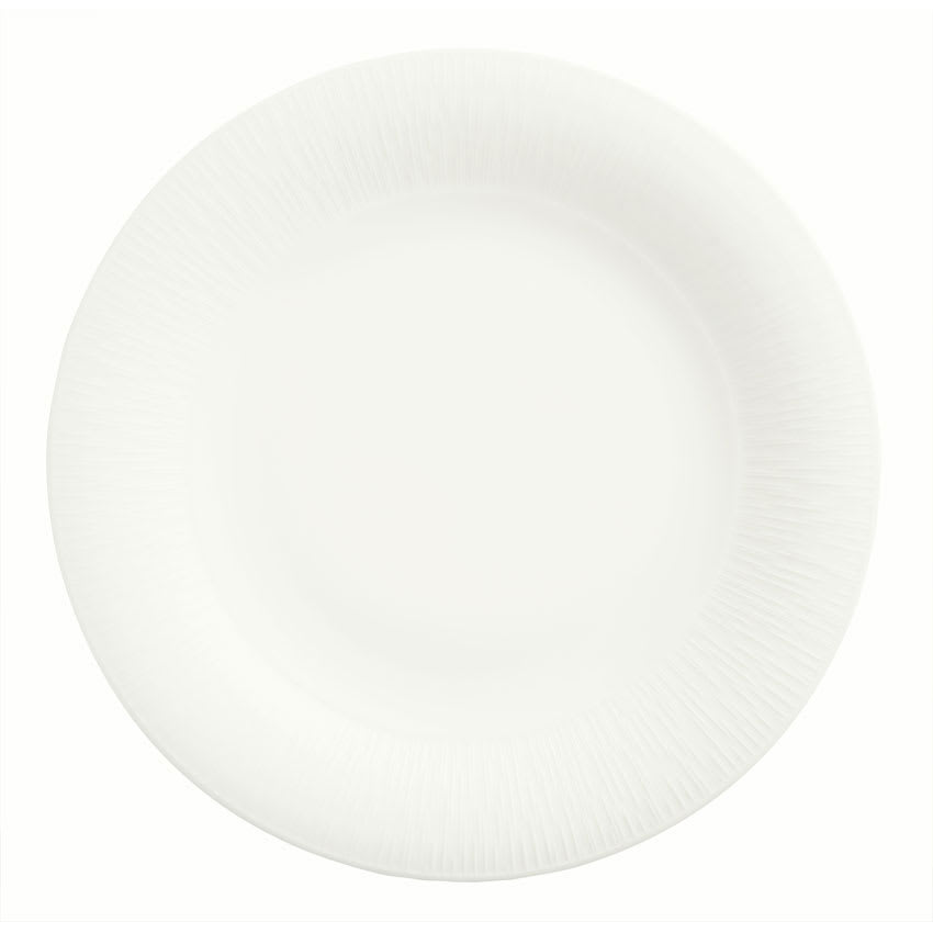 "Syracuse China 909089704 8.25"" Round Plate w/ Wide Rim, Under Ring & Royal Rideau Body, Glazed"