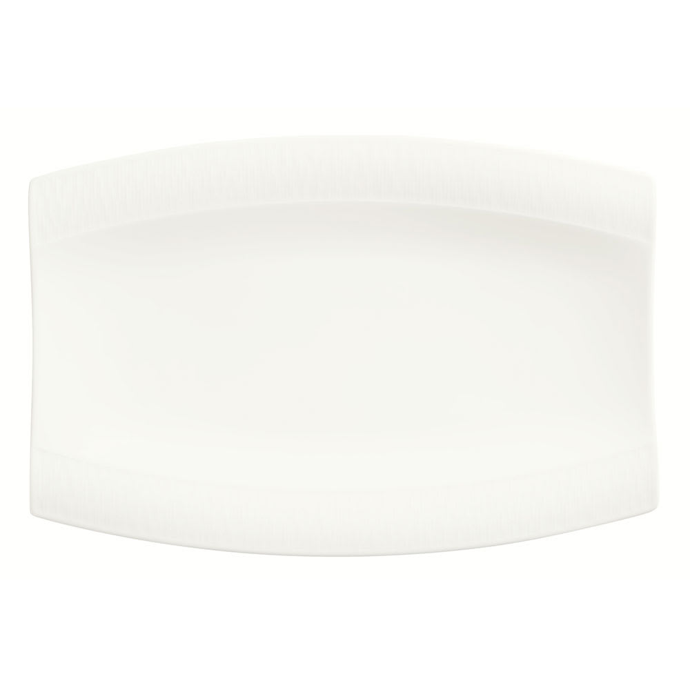 "Syracuse China 909089717 Rectangular Platter w/ Wide Rim & Royal Rideau Body, Glazed, 13 x 8.75"""