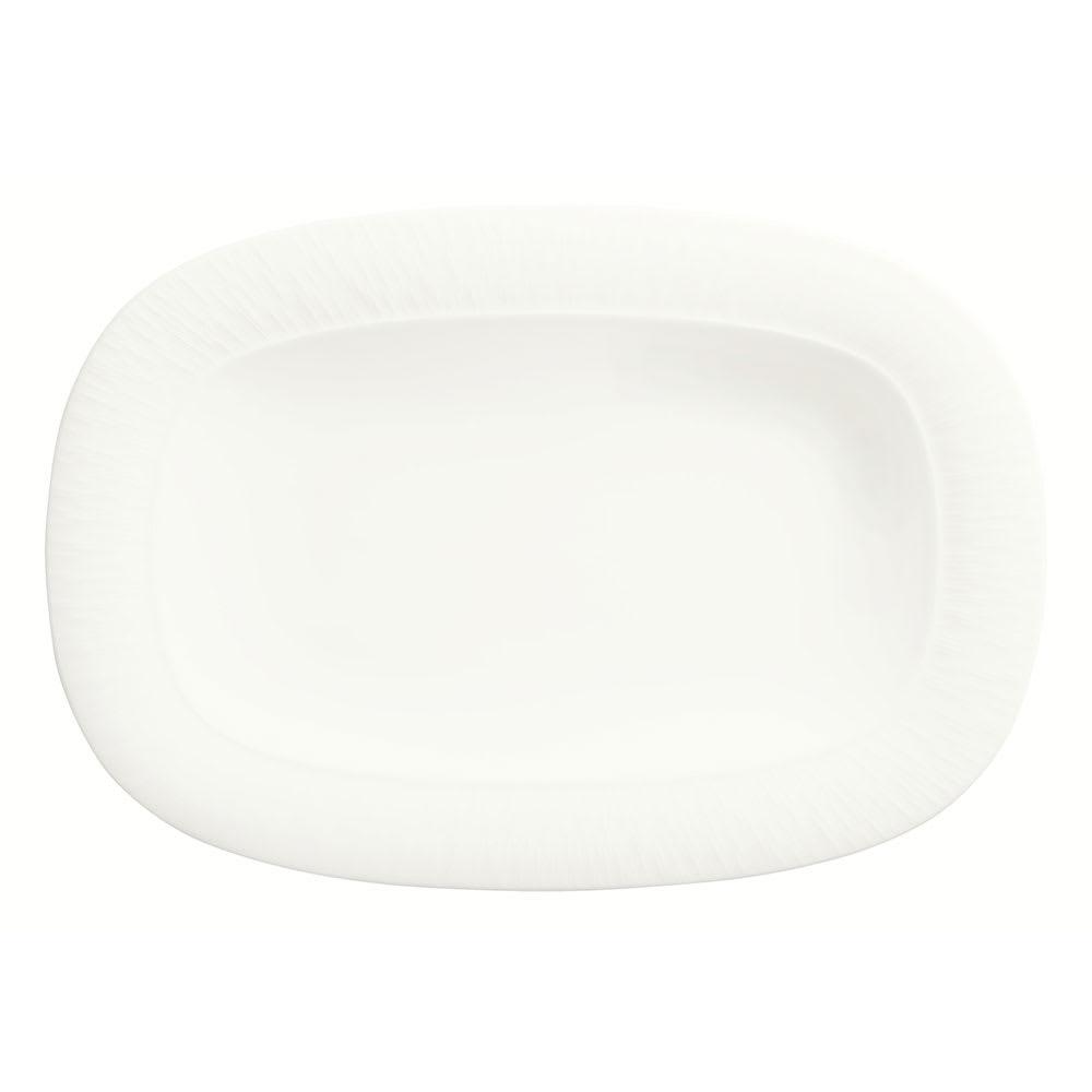 "Syracuse China 909089719 Racetrack Platter w/ Wide Rim, Solario, Royal Rideau Body, Glazed, 12.5x8.75"""