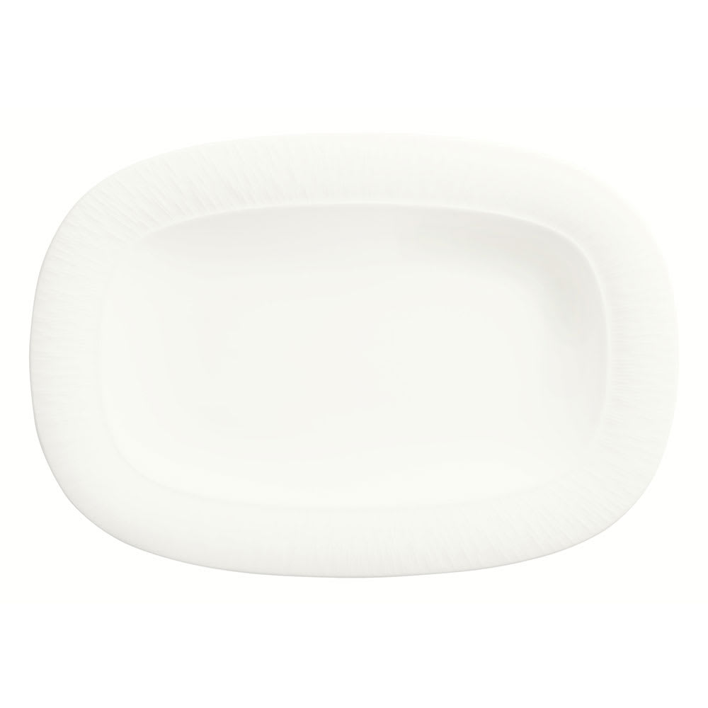 "Syracuse China 909089720 Racetrack Platter w/ Wide Rim, Solario, Royal Rideau Body, Glazed, 10.5x7.25"""