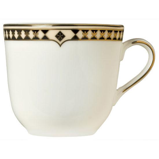 Syracuse China 911191011 6 oz Tea Cup w/ Baroque Pattern & International Shape, Bone China Body