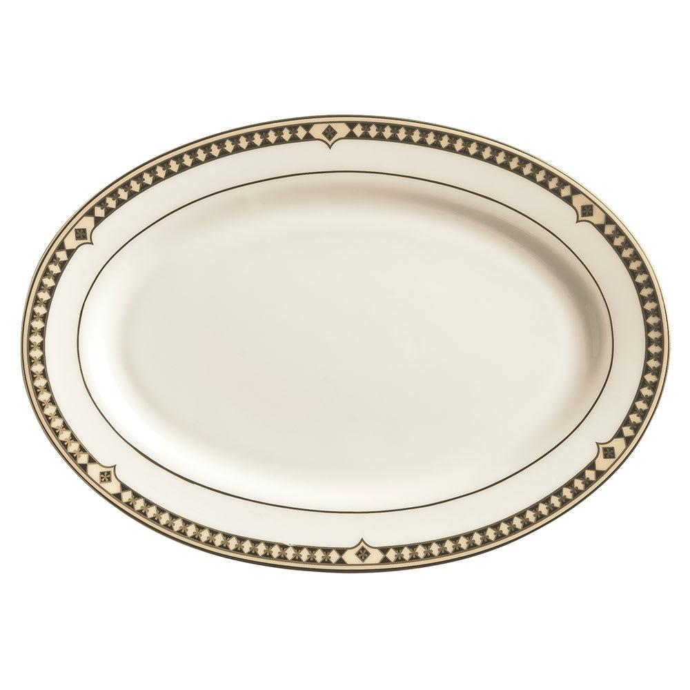 "Syracuse China 911191023 10.25"" Oval Platter w/ Baroque Pattern & International Shape, Bone China Body"