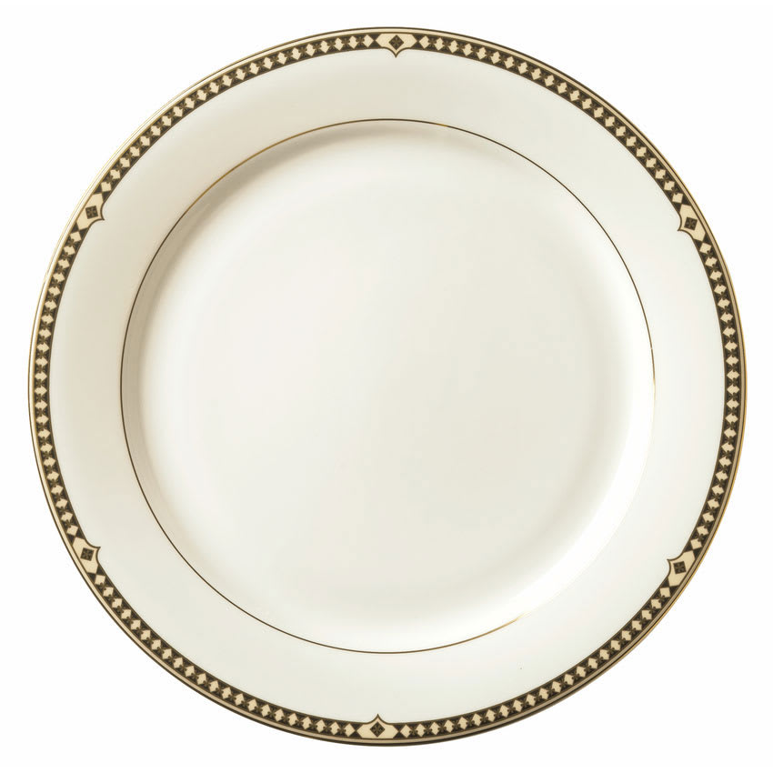 "Syracuse China 911191025 11.37"" Dinner Plate w/ Baroque Pattern & International Shape, Bone China Body"