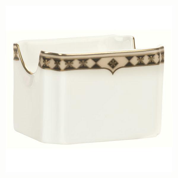 Syracuse China 911191029 Sugar Packet Holder w/ Baroque Pattern & International Shape, Bone China Body