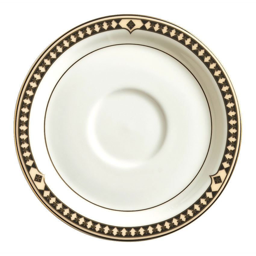 "Syracuse China 911191031 6.12"" Saucer w/ Baroque Pattern & International Shape, Bone China Body"