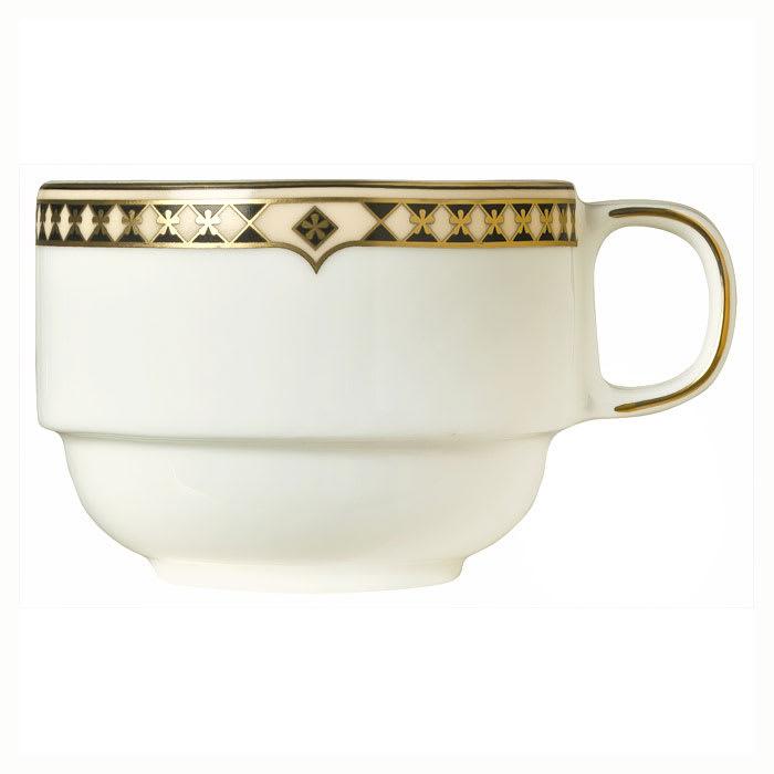 Syracuse China 911191032 8.5 oz Stacking Tea Cup, Baroque Pattern & International Shape, Bone China Body