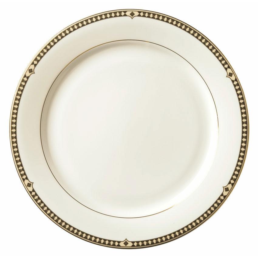"Syracuse China 911191033 9"" Plate w/ Baroque Pattern & International Shape, Bone China Body"