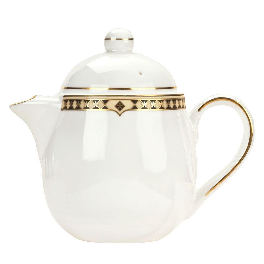 Syracuse China 911191040 15-oz Baroque Tea Pot - Lid, Glazed, White