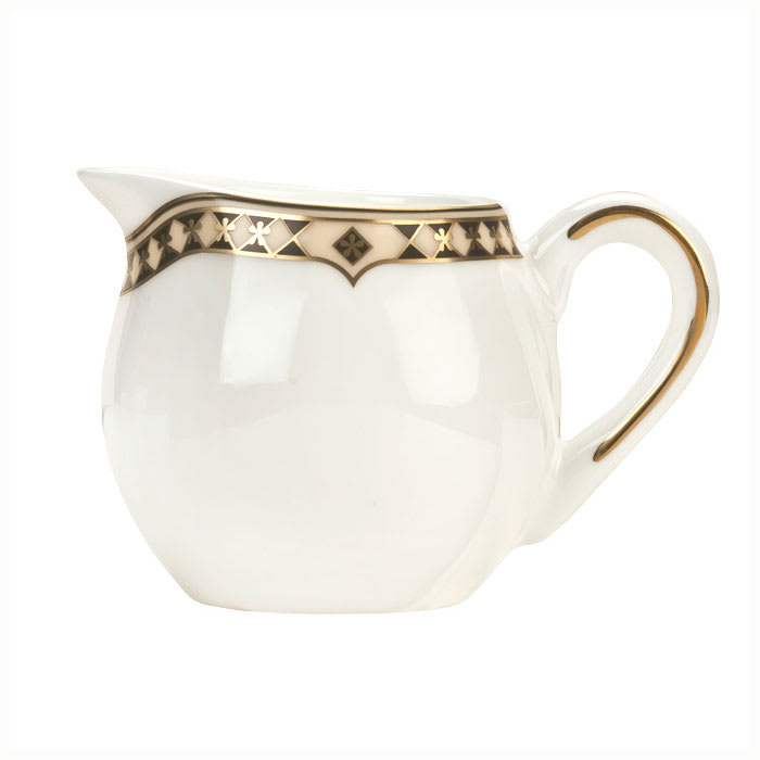 Syracuse China 911191077 3-oz Baroque Creamer - Glazed, Handle, White