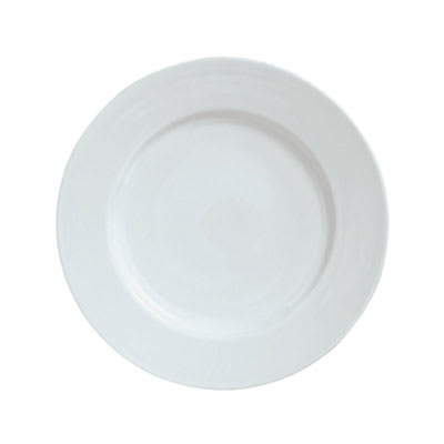 "Syracuse China 911194006 6.62"" Plate w/ Reflections Pattern & Shape, Alumawhite Body"