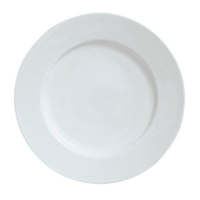 "Syracuse China 911194040 10"" Plate w/ Reflections Pattern & Harmony Shape, Alumawhite Body"
