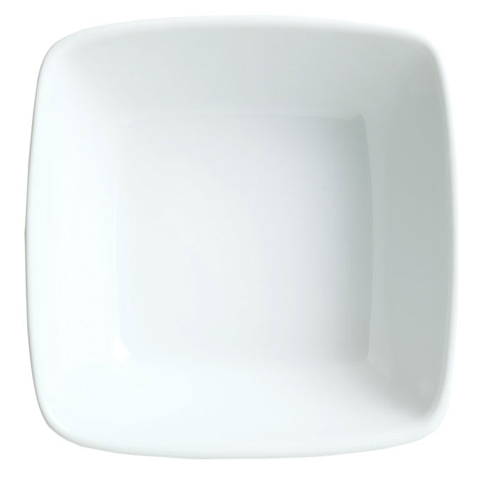 Syracuse China 911194431 14 oz Square Bowl w/ Reflections Pattern & Shape, Alumawhite Body